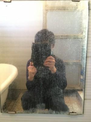 鏡ウロコ お風呂掃除 掃除前