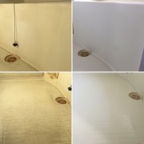 浴室クリーニング_お風呂の床に着いた特殊水垢除去_ハウスクリーニング専門店のおそうじ本舗_都城市
