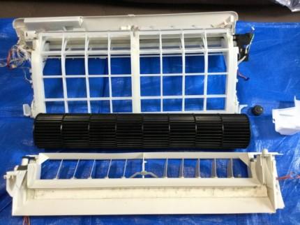 パナソニック SXシリーズの完全分解洗浄 パーツ エアコンクリーニング