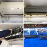 お掃除機能付き 三菱電機 MSZ-HM403S-W エアコンクリーニング ドレンパン外し 都城市