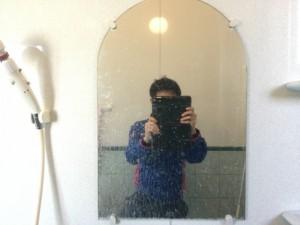 浴室 鏡ウロコ 洗浄前