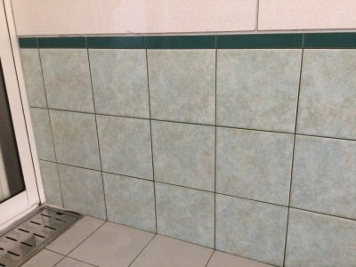浴室 壁の皮脂汚れ 洗浄後