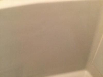 浴槽側面の石鹼カス除去