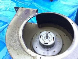 レンジフードクリーニング Cleanup RH-90ND ドラム 洗浄前